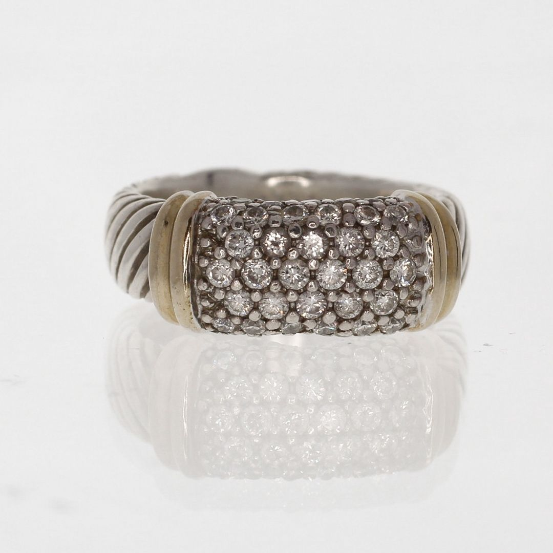 mm diamond david cuff prev bracelet shop accessories quatrefoil pave sterling jewelry yurman silver