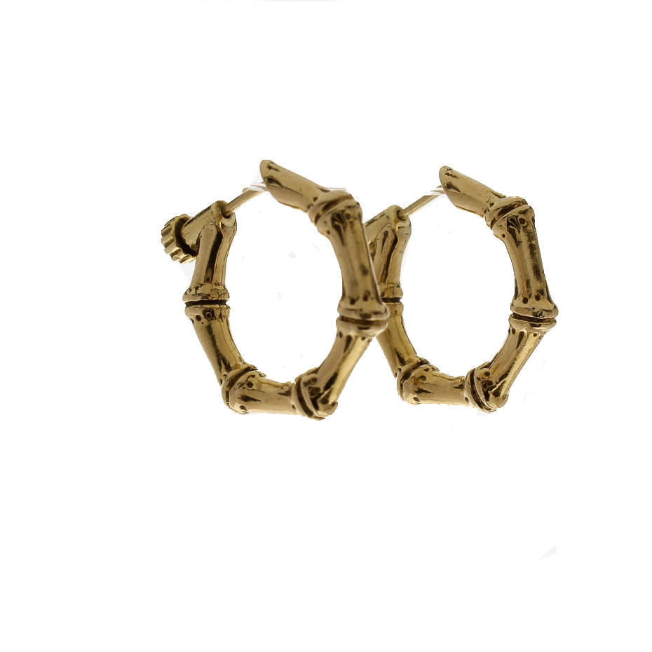 Gold Bamboo Hoop Earrings 83918a Jpg