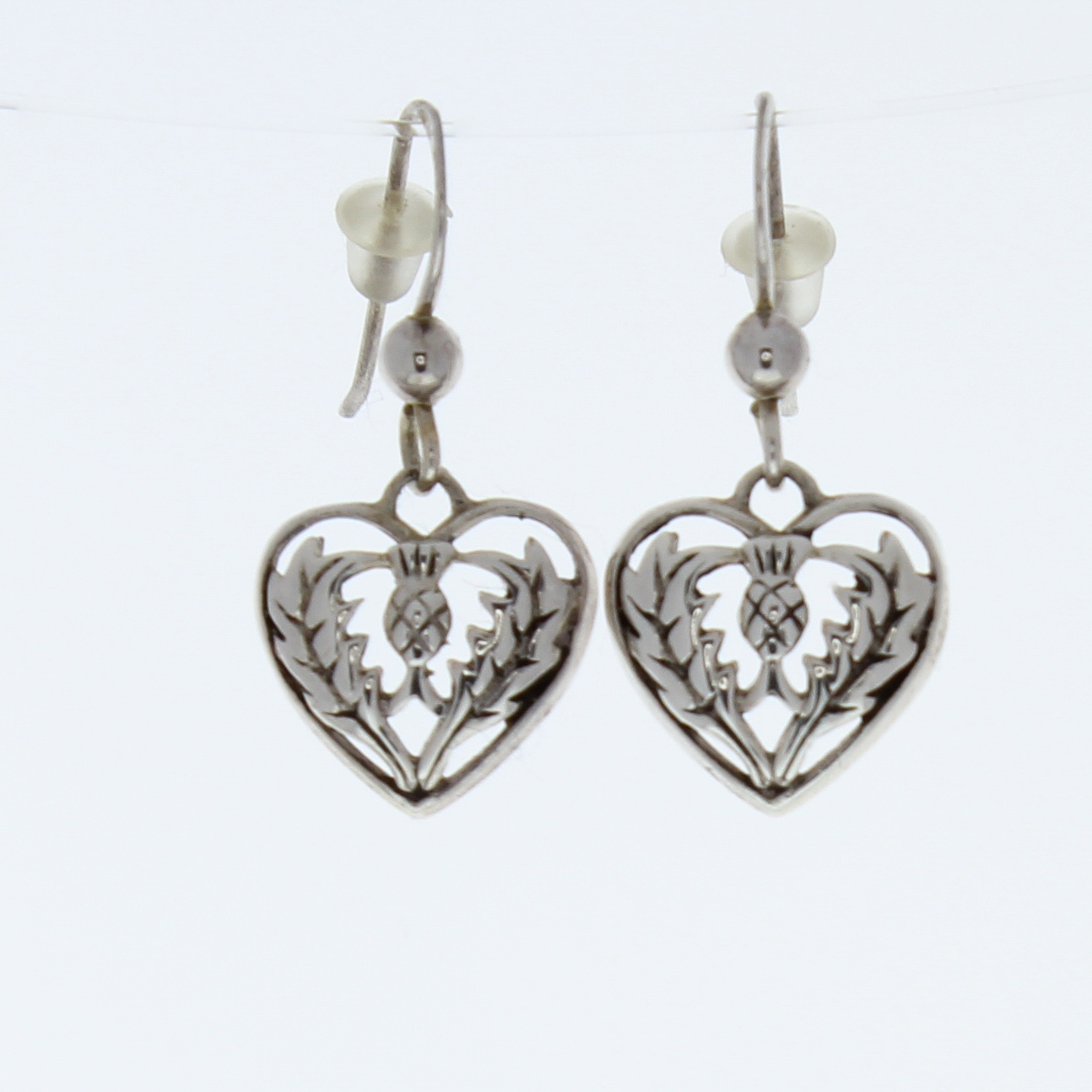 Silver Heart Shaped Earrings 79995a Jpg