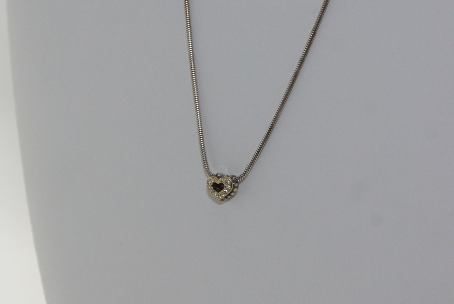 Small diamond heart necklace design with consignment llc view detailed images 3 aloadofball Image collections