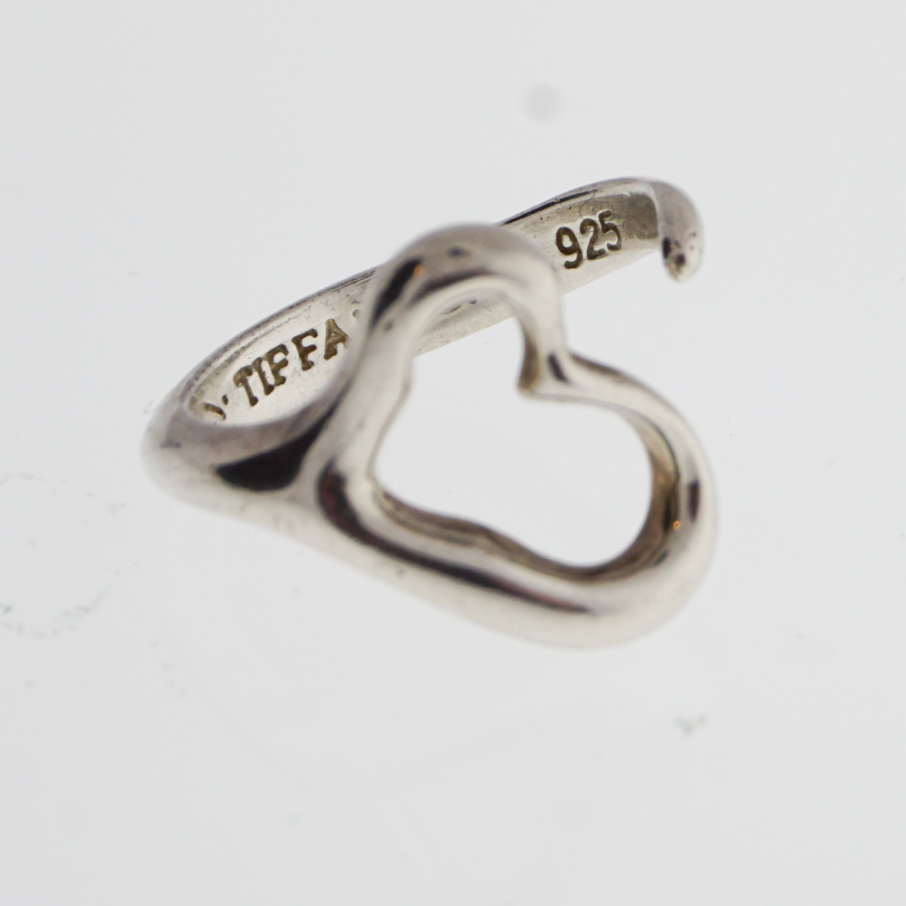 Tiffany Silver Open Heart Ring Design With Consignment Llc