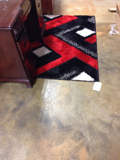 Black Red White Area Rug Encore