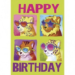 Girls Cool Cats Birthday Card P 2381000A