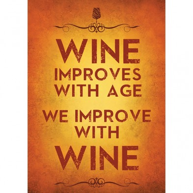 Improved With Wine Birthday Card Eci Stores