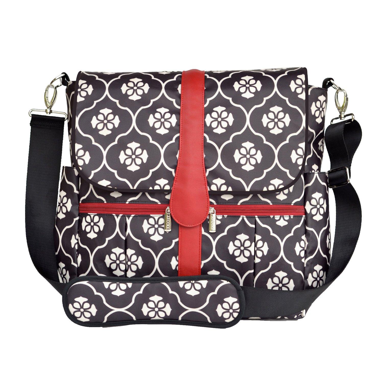 Jj Cole Backpack Diaper Bag Black Floret