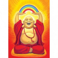 Laughing Buddha, Birthday Card