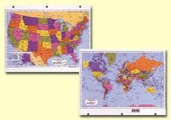 USWorld X Binder Map ECI Stores - 8 1 2 x 11 us map