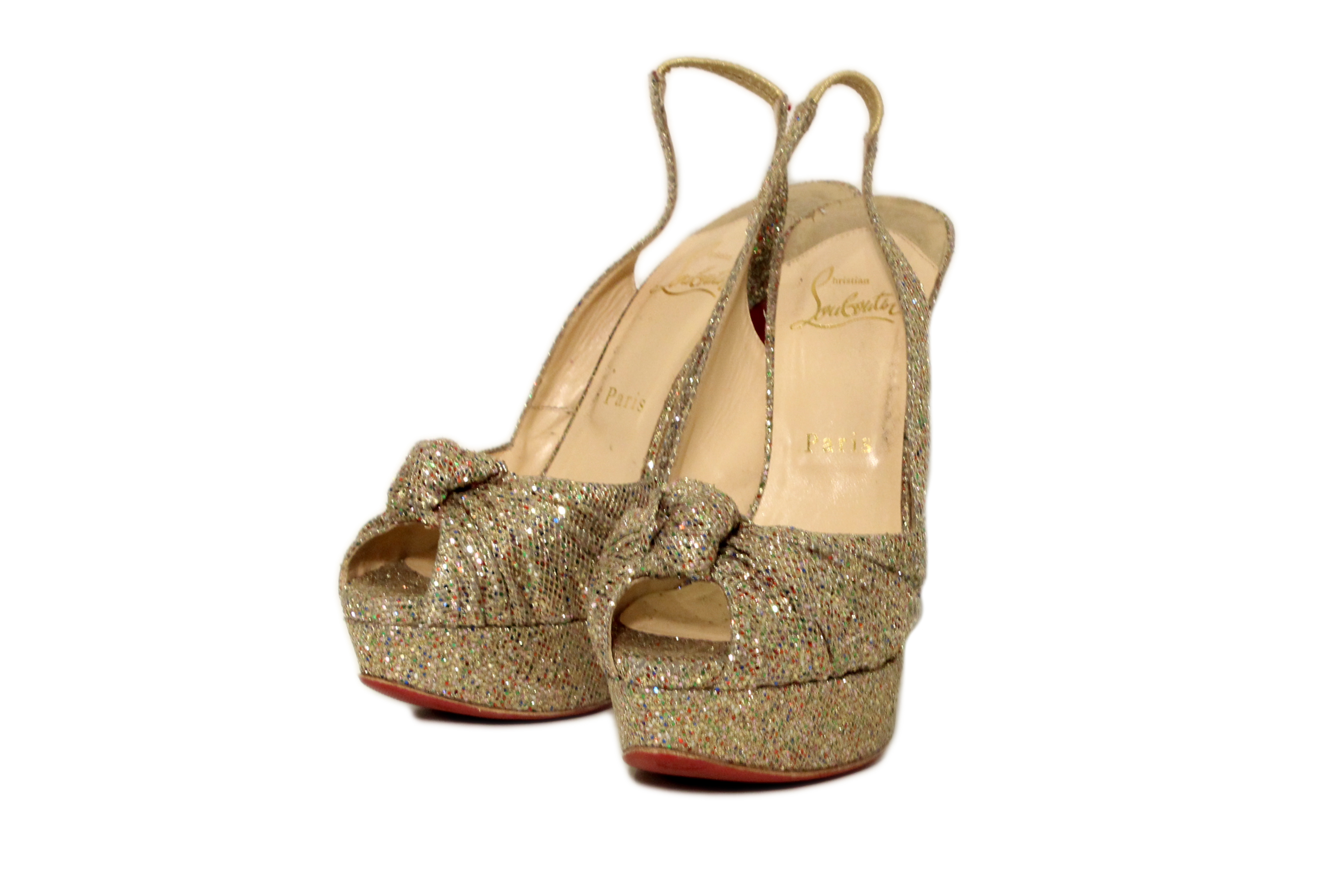 christian louboutin glitter shoes