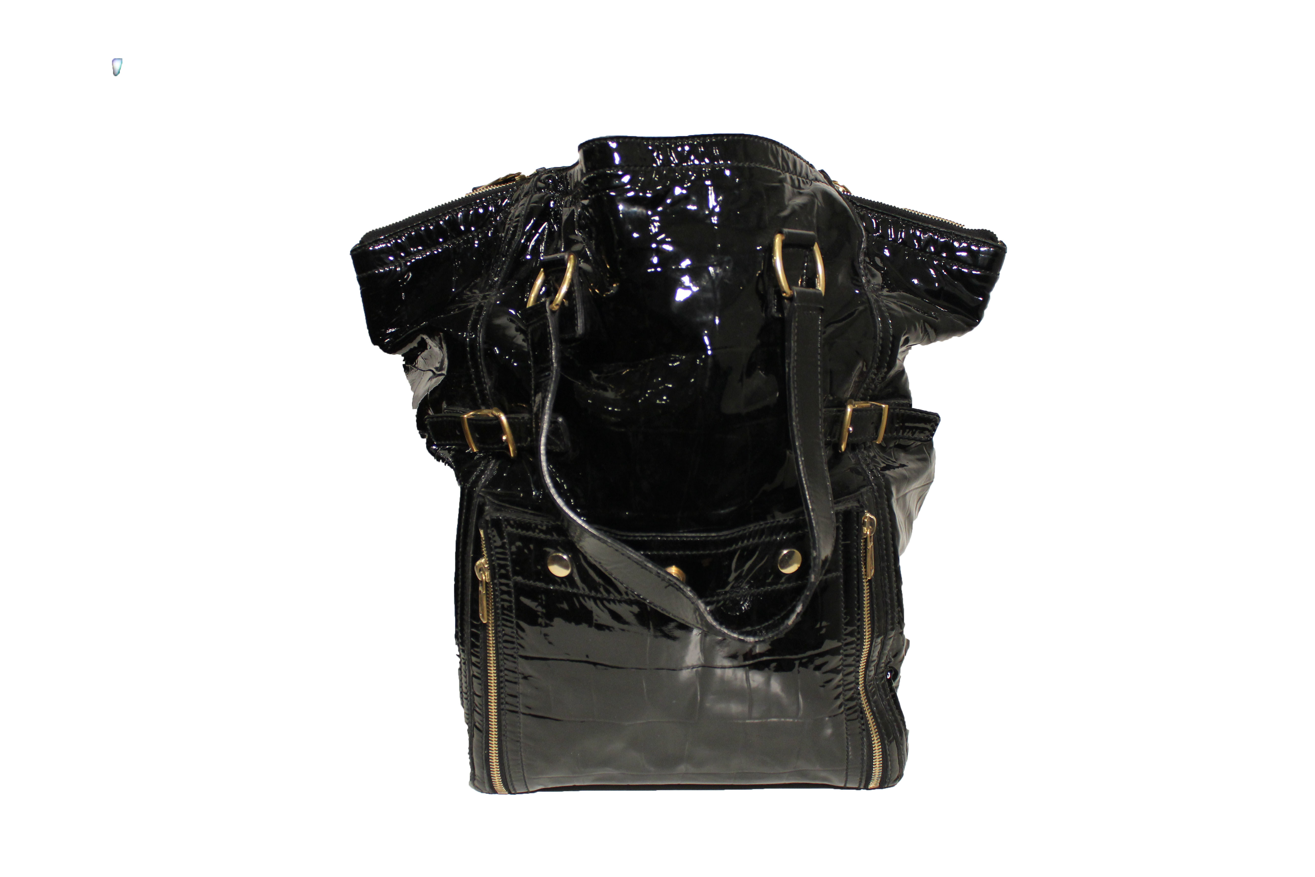 ysl patent leather handbag downtown