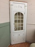 Antique Glass Door Corner Cabinet - Architectural Mouldings