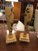 Handpainted Fruit Candle Holders