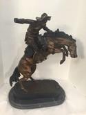 "Outlaw Frederic Remington Bronze 24"""