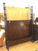 Ralph Lauren Queen Size 4-Poster Bed, Solid Mahogany