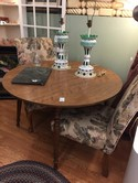 Vintage Ethan Allen Maple Round Dining Table