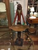 Vintage Signed Bill Huebbe Original Handcrafted Standing Monkey Butler