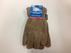 West Chester XLarge Male Tan Leather Positherm Insulated Winter Work Gloves