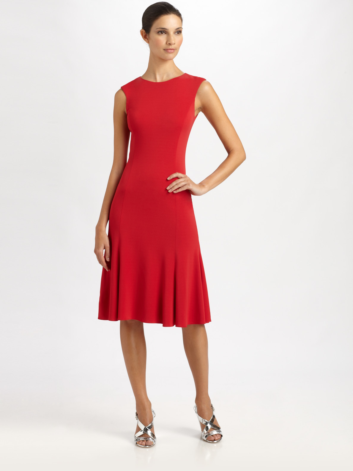 Lauren Ralph red dress pictures forecast to wear for everyday in 2019