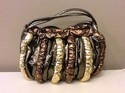 Mylinka Used Metallic Gold, Bronze, Copper Rhinestoned Purse