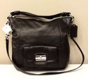 Coach NEW Leather Black Silver Hardware Purse