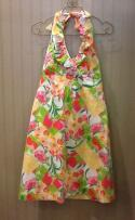 Lilly Pulitzer Used Size 6 Pink,Yellow,Green Print Haltertop Dress