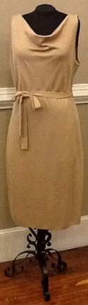 St. John NEW Size 14 Tan Belted sleeveless Dress
