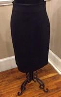 Les Copains NEW Size 14 Black Wool Pencil Skirt
