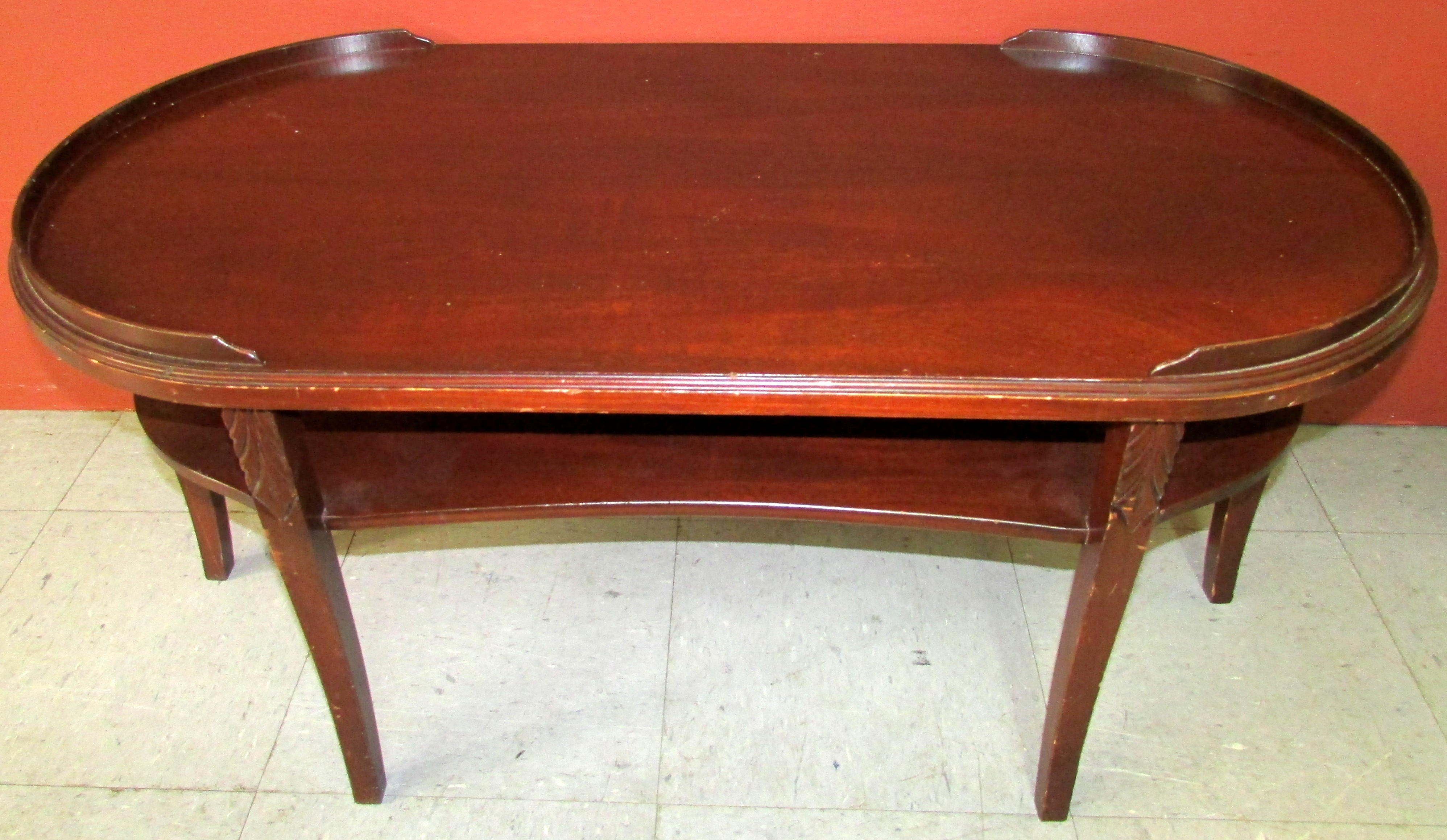 antique mersman oval coffee table 7303 phantastic phinds