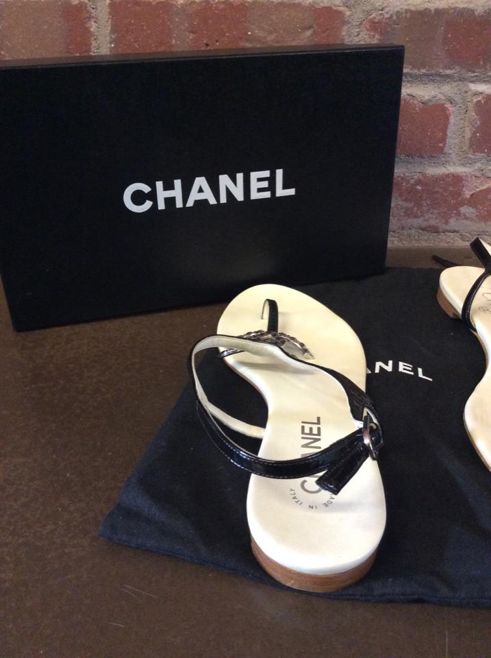 d429c5dceac1 Chanel Size 39.5 Entre-Doigts Sandals