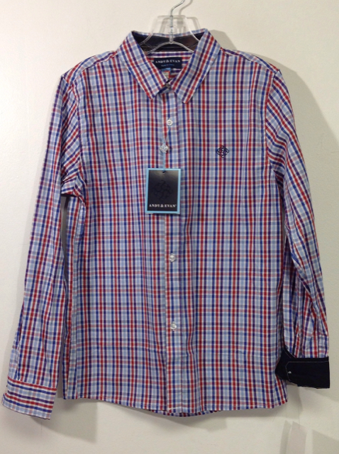Andy--Evan-Size-12-Red--Blue-Checkered-Cotton-Shirt_547938A.jpg