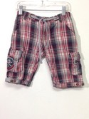 Monster-Republic-Size-6-Red-Plaid-Cotton-Shorts_480568A.jpg