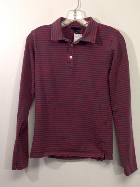 Oscar-de-la-Renta-Size-16-Green-Stripe-Cotton-Polo_509876A.jpg