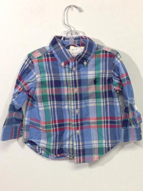 Ralph-Lauren-Size-12M-Blue-Plaid-Cotton-Shirt_560306A.jpg