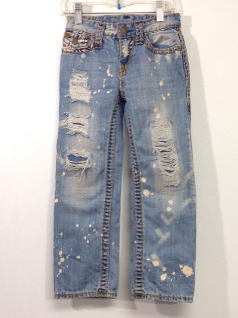 30b0f419109ce True Religion Size 5 Blue Distressed Denim Jeans | The Second Child
