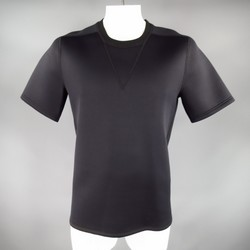 3.1 PHILLIP LIM Size L Black Viscose Blend Scuba Tee