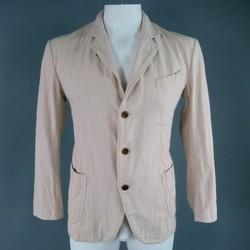 45rpm 40 Khaki Cotton Soft Shoulder Patch Pocket Sport Coat Jacket