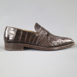 A.TESTONI Size 8.5 Brown Textured Loafers