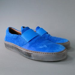 ACNE STUDIOS Size 10 Royal Blue Leather Sneakers