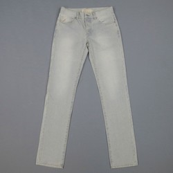 AGNES B. Size 30 Washed Distressed Striped Denim Jeans