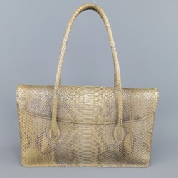 ALAIA Beige Snakeskin Top Handles Shoulder Handbag
