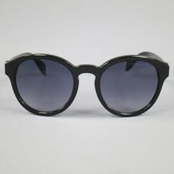 ALEXANDER MCQUEEN Black Acetate Round Skull Sunglasses