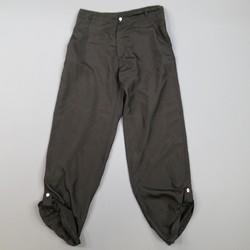 ALEXANDER MCQUEEN Size 38 Black Silk Tab Hem Back Belt Pants