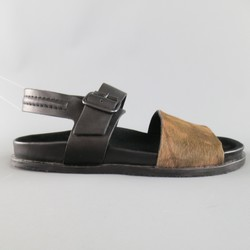 ALLSAINTS SPITALFIELDS Size 11 Black & Brown Two Toned Leather Sandals