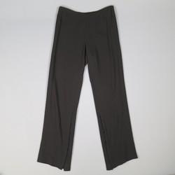 ANN DEMEULEMEESTER Size 8 Black Viscose/Wool Hook Eye Slit Dress Pants