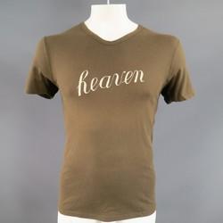 ANN DEMEULEMEESTER Size XS Olive Cotton HEAVEN V neck T-shirt