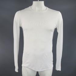 ANN DEMEULEMEESTER Size XS White Sheer Cotton Long Sleeve 'Heaven' T-shirt