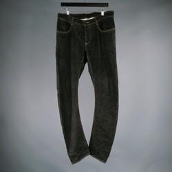 ATTACHMENT Size 33 Black Solid Denim Jeans