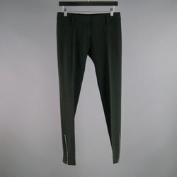 BALENCIAGA Size 2 Black Polyester Blend  Dress Pants