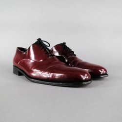 BALLY Size 12 Red Leather Lace Up