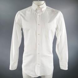 BLACK FLEECE Size L White Cotton Long Sleeve Button Down  Shirt