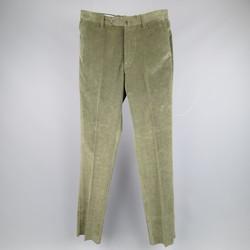 BORRELLI Size 30 Forest Green Corduroy Dress Pants